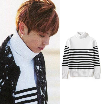 BTS BANGTANG BOYS Sweater Jung Kook Spring Day Album MV Same Style Turtule Neck Men Sweaters Autumn Winter Fashion clothes