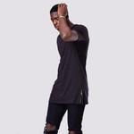 Casual Zip Hip Hop Short Sleeve T Shirt