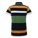 Polo Hombre Slim Fit Striped Collar Short  Sleeve t shirt