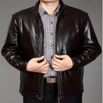Stand Collar Slim Fit Short Leather Jackets