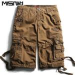 High Quality Cotton Cargo Shorts Men Casual Slim Military Shorts Men Board Shorts