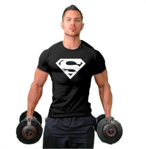 Men T-shirt Muscle Golds Fitness clothing Bodybuilding tops Workout Clothes Cotton Superman gyms T Shirts