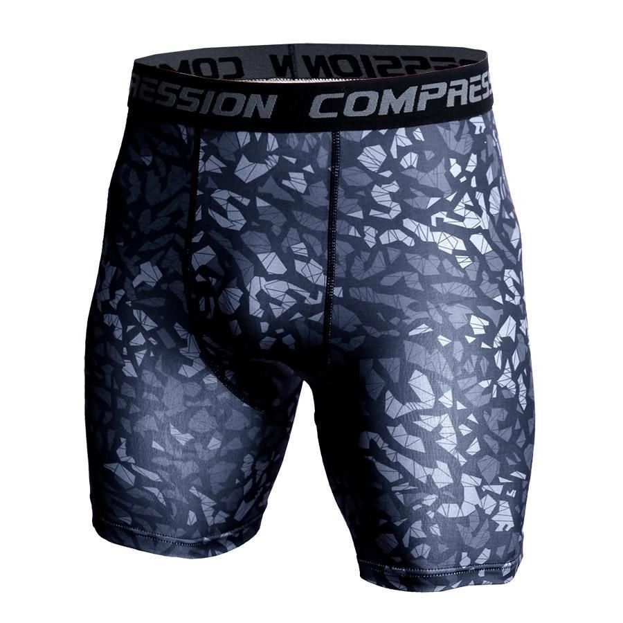 Summer Camouflage Bermuda Compression Shorts Men Army Shorts 3 D Print Bodybuilding Tights Short Pants Men's Shorts Sportswear