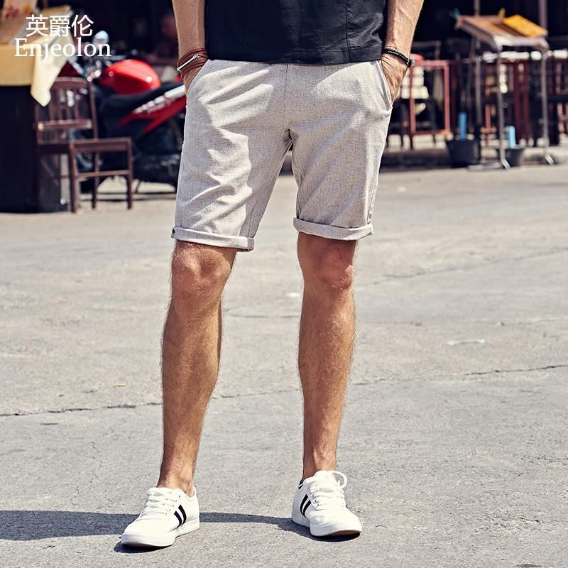 Summer New Casual Shorts Men Cotton Sim solid 2 Color Available Knee length High Quality