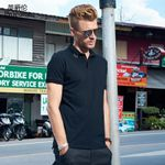 new Men casual short sleeve polo Shirts men solid black Clothing for men Tops Tee