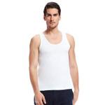 White Sleeveless Undershirts O-Neck Men's Soft Cotton Solid Seamless Underwear Tank Undershirt Mens T shirt
