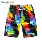 new swimsuit Quick Dry Men Shorts Summer Casual Splash rainbow  Shorts Men's Board Beach women Shorts