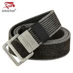 Canvas Belt men Stripe Metal Tactical Belts Men's Woven Belt Casual Pants Gift for Men Belts Canvas cantos