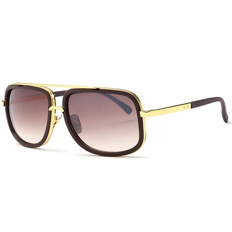 Metal Frame Reflective Coating Designer Sunglasses With Box
