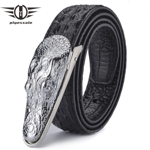 Leather Belt Men Luxury Crocodile Belts Men Gold Silver Bronze Metal Buckle Designer Belts
