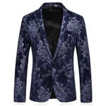 Luxury Floral Slim Men Blazer