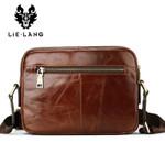 Leather Shoulder Bags Men Brown Cow Leather Shoulder Bag Messenger Bags Casual Travel Bag