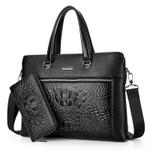 Luxury Black Handbags Men Messenger Bags PU Leather Man Bags Crocodile Male Men's Briefcase Man Casual Shoulder Bag