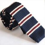 Men's Wool Knit Necktie Ties For Men Stripes Printed Skinny Knitted Neck Tie Gravatas Cravat