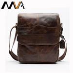 Men's Bags Genuine Leather Male Crossbody Bags Strap Small Casual Flap Men Leather Messenger Bag Men's Shoulder Bag