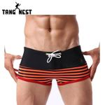 Men's Summer Underwear Boxer Beach Striped Fitness Male Trunks 2 Piece Boxers
