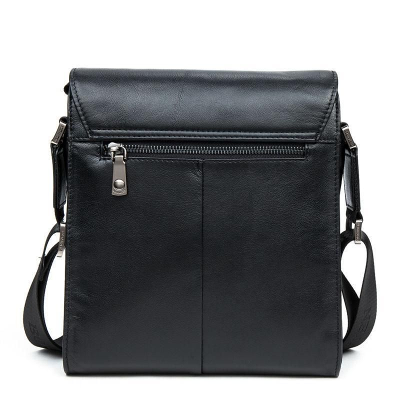 Vertical Leather Messenger Briefcase Bags