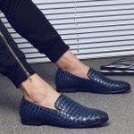 Casual Braid Leather Driving Oxfords Shoes