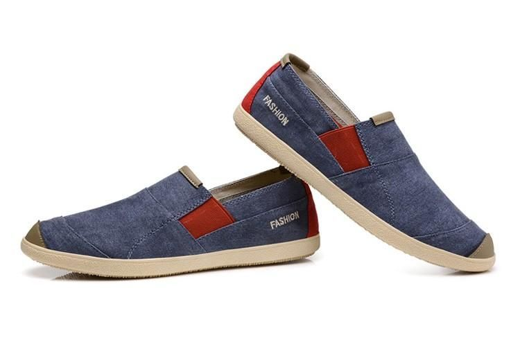 Casual Slip On Light Canvas Driving Shoes