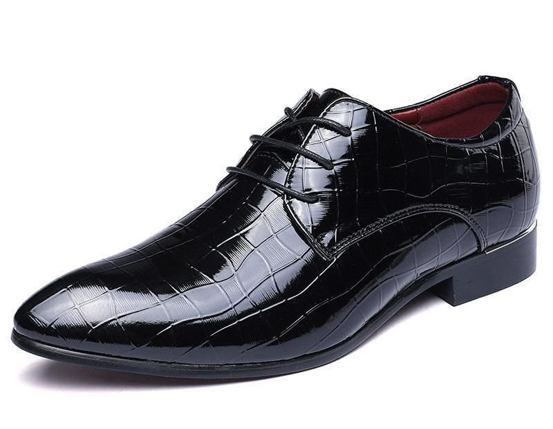Elegant PU Leather Formal Brogue Shoes
