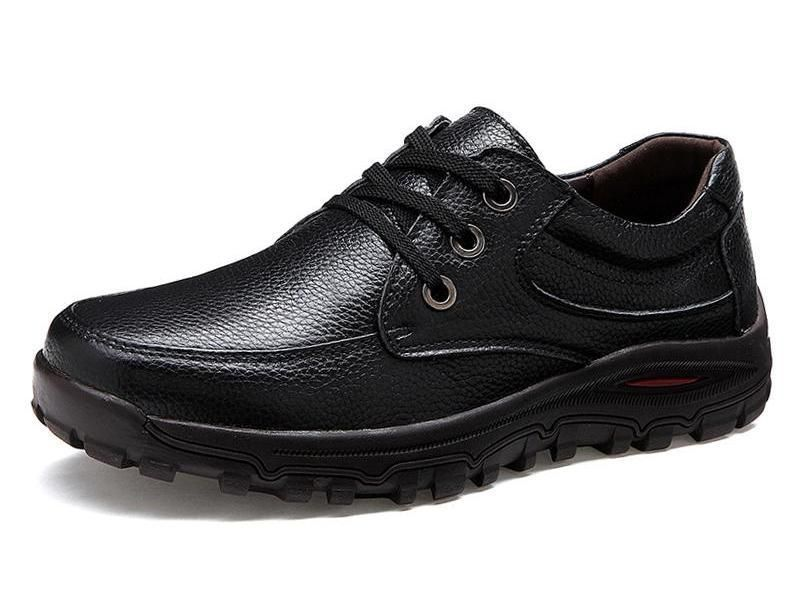 Soft Anti-skid Durable Lace Up Leather Shoes