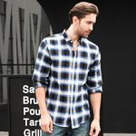 Casual Social Fit Long Sleeve Checkered Shirts