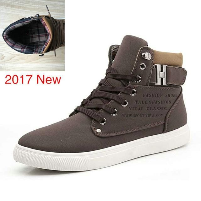 Cotton Fabric High Cut Lace Up Casual Shoes