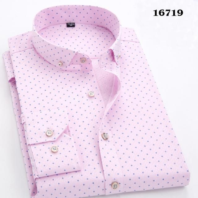 Polka Dot Print Long Sleeve Casual Shirts