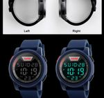 Chronograph Silicone Strap Waterproof Wristwatches