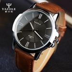 Sports Men Watch Luxury Top business Male Clock simple Wrist Watch Leisure Fashion Leather quartz watch