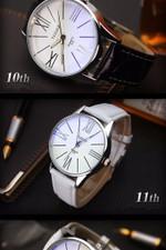 Luxury Leather quartz Wristwatch