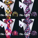 Ties Multi-color Polka Dot Silk Jacquard Necktie