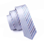 Mens Ties Silk Skinny Ties For Men Narrow Gravata Slim Tie Novelty Gray Necktie
