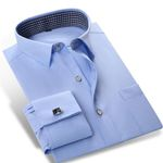 Classic-fit Solid Color French Cuff Shirts