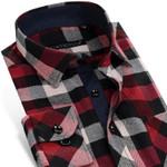 Plaid Pattern Flannel Classic-fit Comfort Soft Cotton Blend Casual Shirts