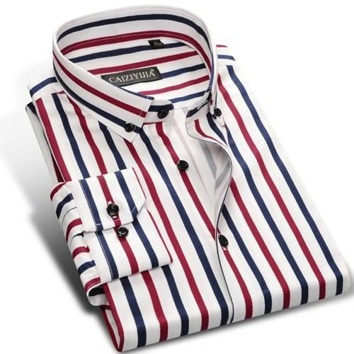 Multi Vertical Striped Long Sleeve Shirts