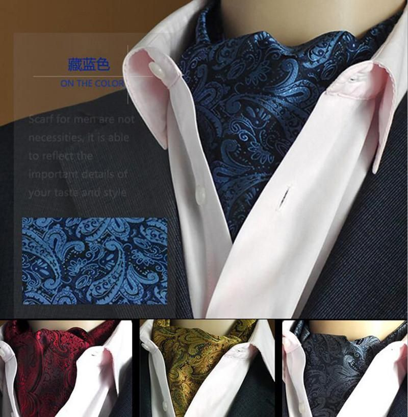 Quality 19 Styles Fashion Luxury Duplex Silk Printing Men Scarf Polka Dot Scarves Suit Jacquard weave