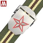 Red Star Buckle Military Belt Fashion Strong Canvas Army Tactical Belt Men Top Quality Belts Luxury Strap 10 Colors