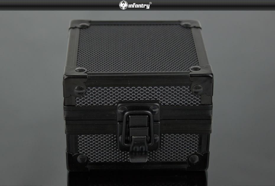 Fashion Rock Style Upgrade Black Aluminum Gift Box Show Cases Display Boxes For Watches Bracelets NEW