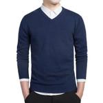 Long Sleeve Slim Fit V-neck Formal Sweater