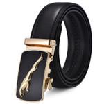 Jaguar Real Leather Belt Gold Buckle Belts