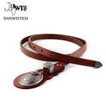 Genuine leather women knot fine belt fashion vintage metal leather belts for women strap female pin buckle belts
