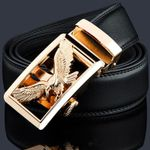Genuine Leather Automatic Buckle Belts