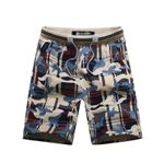Drawstring Mid Waist Cotton Shorts with Pockets