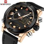 Luxury Men Analog Digital Leather Sports Watches Men's Army Military Watch Man Quartz Clock Relogio Masculino