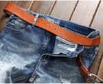 ripped Jeans men clothing high quality male jeans fashion casual mens denim pants Light Blue Color Jeans
