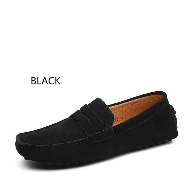 Casual Suede Leather Slip On Shoes