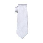 White Paisley Silk Jacquard Ties