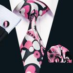 New Arrival Fashion Men`s Cotton Tie High Quality Design Necktie Handkerchief Cufflink Set For Men`s Wedding Party
