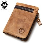 Leather Mens Wallets  Zipper Design Short Men Purse Male Clutch With Card Holder Coins Purses Walet